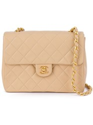 Chanel Vintage Quilted Chain Shoulder Bag Nude And Neutrals