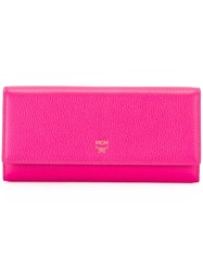 Mcm Flap Wallet Pink And Purple