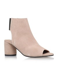 Kg By Kurt Geiger Raw Peep Toe Suede Shoe Boots Female Taupe