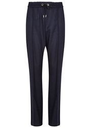 Kenzo Navy Cord Trimmed Wool Trousers