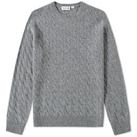 Lacoste Cable Crew Knit Grey