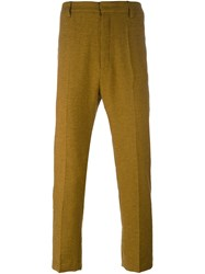Ann Demeulemeester Tailored Regular Trousers Yellow And Orange