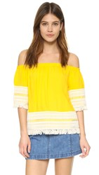 Ella Moss Lilita Off Shoulder Blouse Lemon