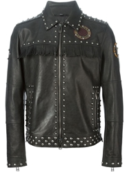 Belstaff Studded Biker Jacket Black