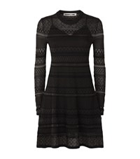 Mcq By Alexander Mcqueen Knitted Lace Skater Dress Female Black