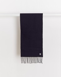 French Connection Reversible Scarf Blue