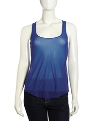 Sweet Pea Mesh Racerback Top Pacific Blue Turquoise