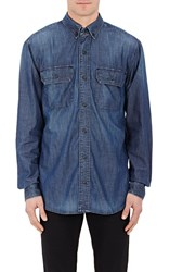 3X1 Selvedge Denim Shirt Blue