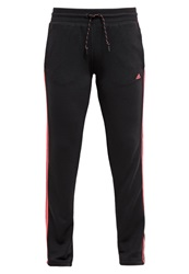 Adidas Performance Essentials Tracksuit Bottoms Black Flash Red