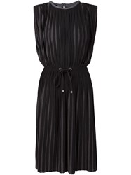 Capobianco Pleated Dress Black