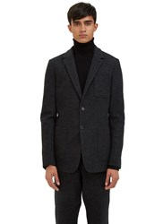 Ami Alexandre Mattiussi Single Breasted Felted Blazer Jacket Black
