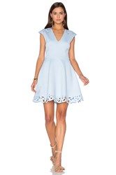 Lumier Laser Sharp Fit And Flare Dress Blue