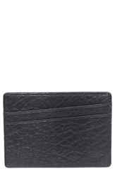 Men's Will Leather Goods 'Quip' Leather Card Case Black Black Grey