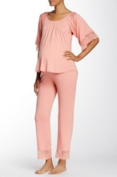 Belabumbum Tallulah Maternity Tunic And Pant Set Pink