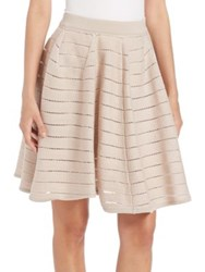 Agnona Striped Knit Skirt Pink