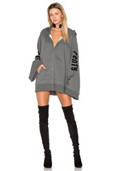 Fenty By Puma Fleece Full Zip Hoodie Grey