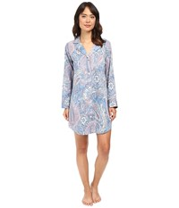 Lauren Ralph Lauren Cotton Sateen Sleepshirt Blue Paisley Women's Pajama