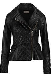 Temperley London Mila Quilted Leather Jacket Black
