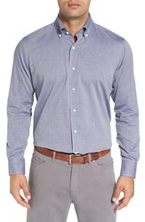 Peter Millar Men's Regular Fit Cotton And Cashmere Sport Shirt