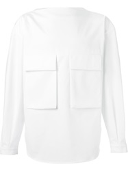 Juun.J Slash Neck Shirt White