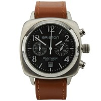 Briston Clubmaster Chronograph Watch Silver Green And Brown