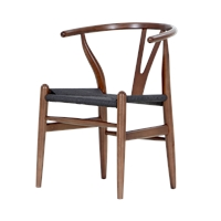 Hans Wegner Wishbone Chair Dark Wood Design Classics Products Blue Sun Tree