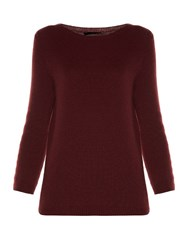 The Row Juliette 3 4 Length Sleeved Knit Sweater Red
