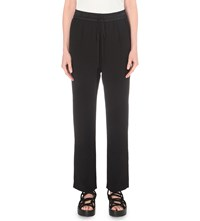 Allsaints Thula Regular Fit Crepe Trousers Black
