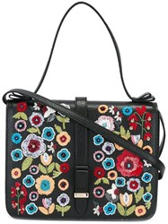 Red Valentino Floral Embroidery Tote Bag Black