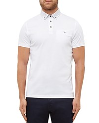 Ted Baker Brocoli Floral Regular Fit Polo White