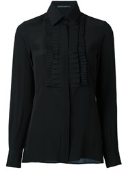 Ermanno Scervino Ruffled Panel Longsleeved Shirt Black