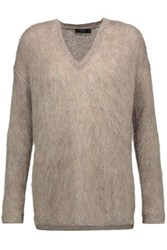 Belstaff Tegan Brushed Wool Blend Sweater Mushroom