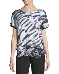 Marc New York Marc Ny Performance Short Sleeve Layered Tie Dye Top Black