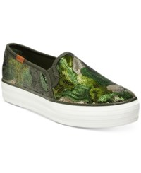 Keds Women's Triple Decker Slip On Sneakers Women's Shoes Camo Glitter