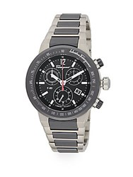 Salvatore Ferragamo Round Stainless Steel Chronograph Watch No Color