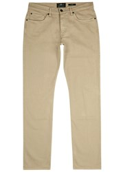 7 For All Mankind Slimmy Luxe Performance Slim Leg Jeans Beige