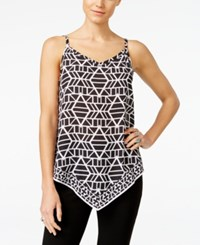Inc International Concepts Petite Printed Handkerchief Hem Blouse Only At Macy's Tribal Stacks