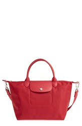 Longchamp 'Small Le Pliage Neo' Nylon Tote Red Ruby