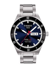 Tissot Mens Prs516 Blue Automatic Sport Watch Silver