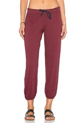 Nation Ltd. Medora Capri Sweatpant Burgundy