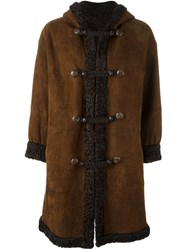 Yves Saint Laurent Vintage Reversible Midi Coat Brown