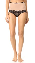 Only Hearts Club Whisper Sweet Nothings High Waist Briefs Nude Black
