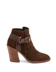 Aquatalia By Marvin K Leather Ankle Booties Brown