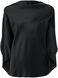 Chalayan Draped Boat Neck Top Green