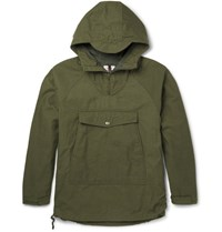 Battenwear Cout Water Reitant Cotton Blend Hooded Jacket Army Green