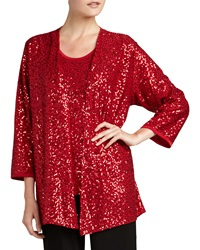Caroline Rose Sequined Open Jacket Women's