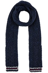 Thom Browne Cable Funmix Scarf In Blue