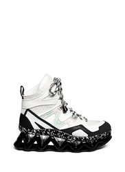Marc By Marc Jacobs 'Ninja' Zigzag Rubber Platform Leather Sneakers Multi Colour