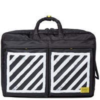 Porter Yoshida And Co. X Off White Three Way Briefcase Black