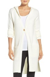 Uggr Women's Ugg 'Judith' Hooded Knit Cardigan Cream